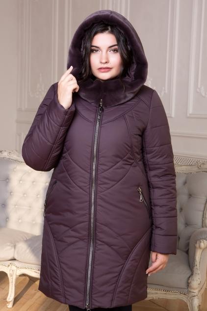 Куртка Финляндия с искуственным мехом кролик